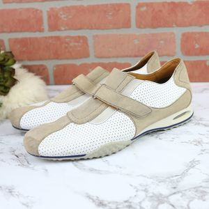 Cole Haan Granada White/Tan Leather 11
